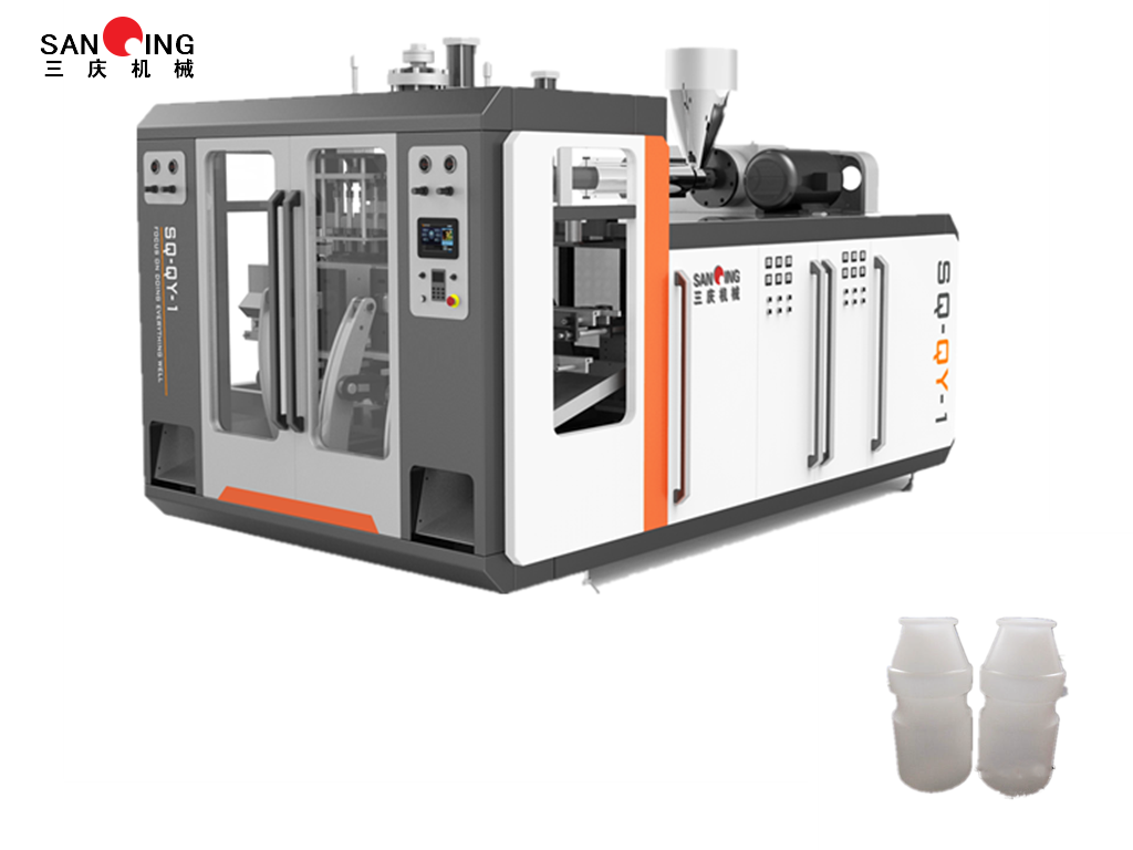 Fruit Milk Bottle One Out of Four High-yield HDPE Automatic Blow Molding Machine Production Line